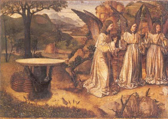 Visita dei tre Angeli ad Abramo  dans immagini sacre 26