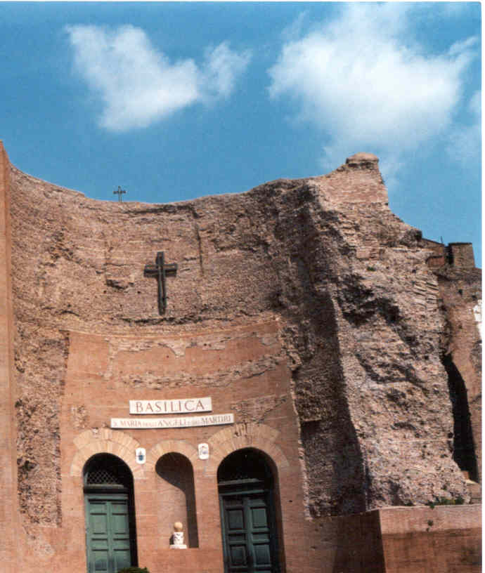 From www.santamariadegliangeliroma.it:basilica, Basilica