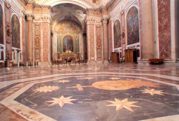 Interno italiano basilica di santa maria degli angeli e dei martiri alle terme di diocleziano - La tavola rotonda santa maria degli angeli ...