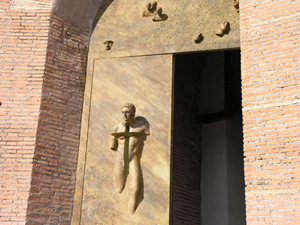 From www.santamariadegliangeliroma.it:bronze_doors, Visita_Guidata